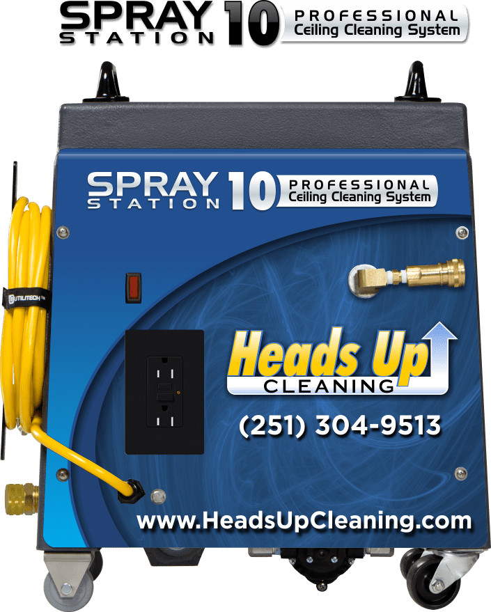 Spray Station 10 Ceiling Cleaning System Designed for Ceiling Tile Restoration Services in Gulf Shores AL