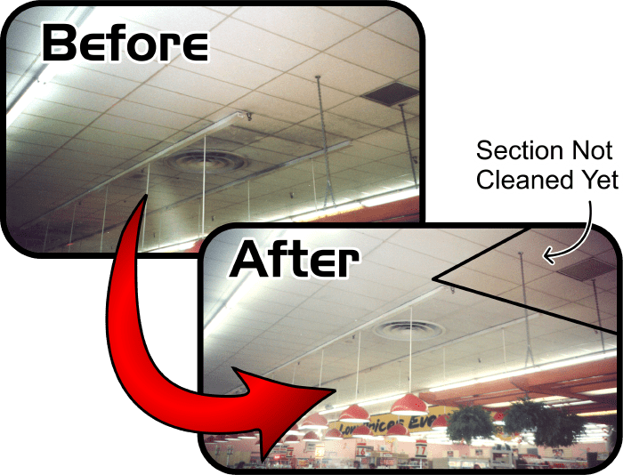 Commercial Ceiling Cleaning Services Company in Alabama delivering Commercial Ceiling Cleaning Services work