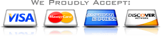 We proudly accept credit cards for payment - Lighting Services Company for Lighting Services in Orange Beach AL
